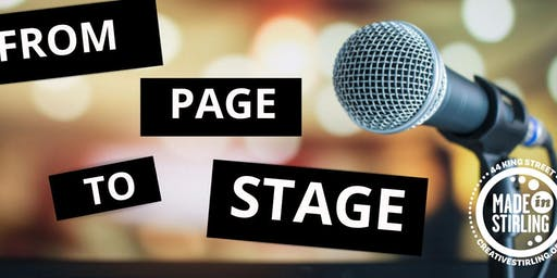 """From Page To Stage"": Performance Skills Workshop"
