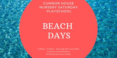 6th June - CHS Purley Saturday Play School - Beach Days