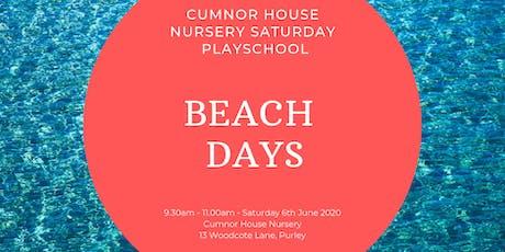 6th June - CHS Purley Saturday Play School - Beach Days tickets