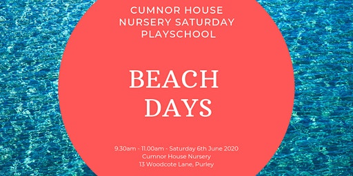 6th June - CHS Purley Saturday Play School - Beach Days