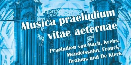 Musicae praeludium vitae aeternae - Lindauer Orgelsommer Tickets