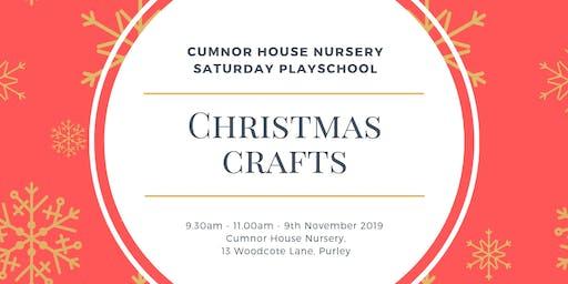 9th November 2019 - CHS Purley Saturday Play School - Christmas Crafts