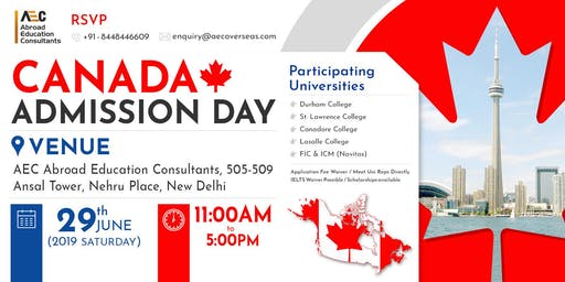 Canada Admission Day - 8th June (Saturday)