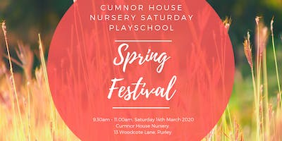 14th March 2020 - CHS Purley Saturday Play School - Spring Festival