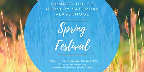 4th April 2020 - CHS South Croydon Saturday Play School - Spring Festival tickets