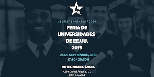 Feria de Universidades de EEUU #EdUSASpainFair2019