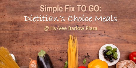Simple Fix TO GO: Dietitian's Choice Meals tickets