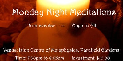 Monday Night Meditation and Mantra