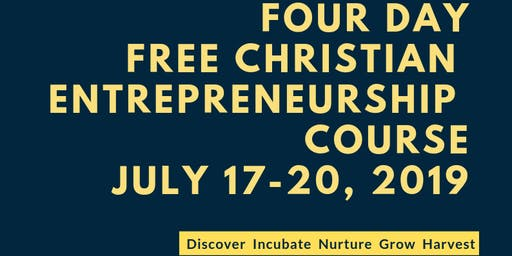 Free Christian Entrepreneurship Course (4 Days)