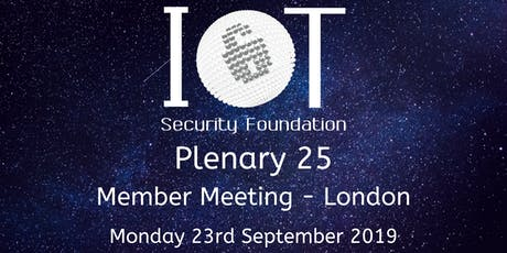 IoTSF Member Plenary 25 tickets