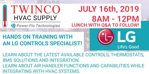 TWINCO SUPPLY - FREE HANDS ON TRAINING WITH AN LG CONTROLS SPECIALIST!