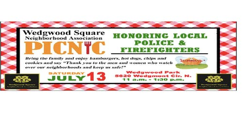 Picnic Getting to Know our Neighbors & Honoring Fire & Police Departments