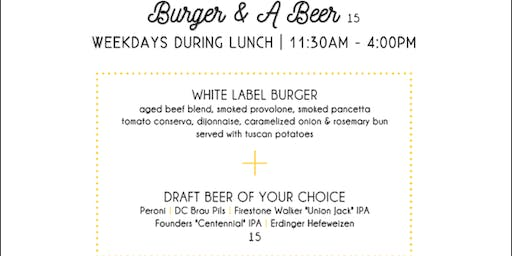 Burger + Beer Lunch Special at Nicoletta Italian Kitchen