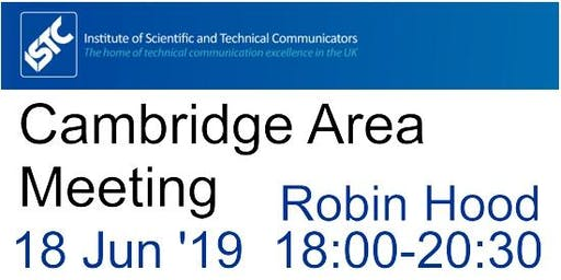 ISTC Cambridge Area June Meeting