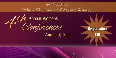 4th Annual W.O.D.A. Conference tickets