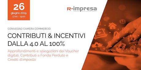 Contributi e incentivi: dalla 4.0 al 100% biglietti