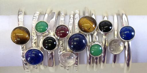 Jewellery & Silversmithing Workshop: Stacking Rings With Stones