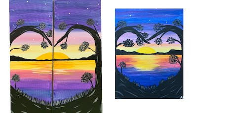 """Date Night or Single Adult  Open Paint """"Love at Sunset"""" tickets"""