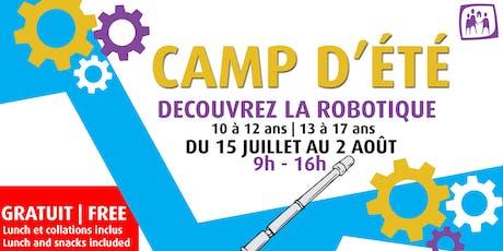 Camp de robotique tickets