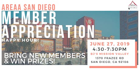 AREAA SD MEMBER APPRECIATION HAPPY HOUR  tickets