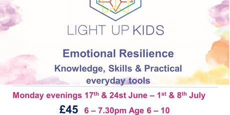 Light Up Kids age 6-10 Mondays 6 -7.30pm  17th & 24th June - 1st & 8th July tickets
