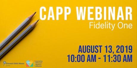CAPP Webinar - Fidelity One tickets