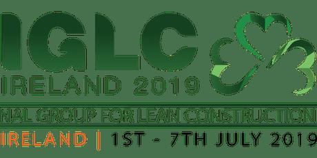 IGLC 2019 (TCD Dinner) tickets