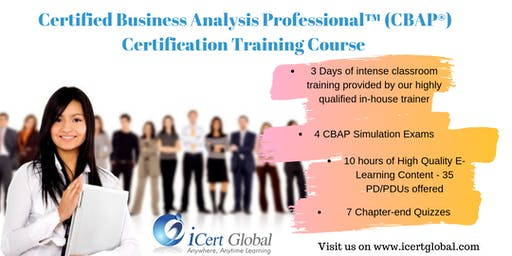 Certified Business Analysis Professional™ (CBAP®) Certification Training Course in Dallas, TX, USA