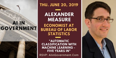 AI in Government - Alexander Measure, Economist at BLS tickets
