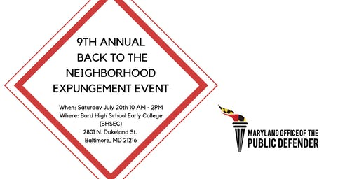 9th Annual Back to the Neighborhood Expungement Event