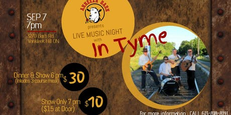 Live Music with In Tyme tickets