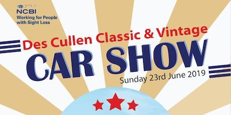 NCBI Des Cullen Classic & Vintage Vehicle Show Sunday tickets