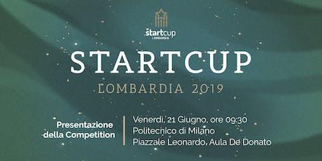 StartCup Lombardia 2019 - Evento di presentazione  biglietti