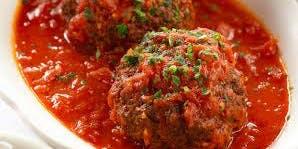 Making Meatballs and Marinara Sauce ( *Gluten Free Available)