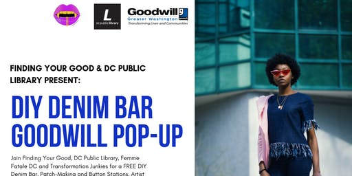 DIY Denim Bar & Goodwill Pop-Up Shop