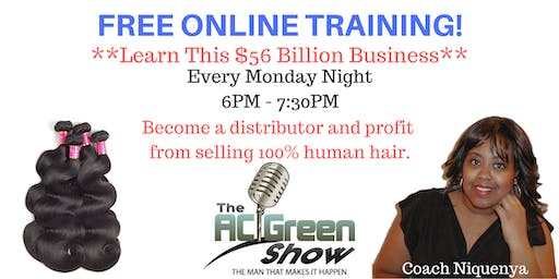 Profit from Selling Hair! FREE WEEKLY TRAINING!