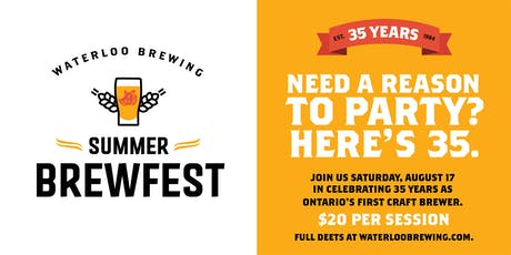 Summer Brewfest at Waterloo Brewing tickets