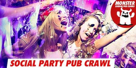 Social party pub crawl on Sat 22 June tickets
