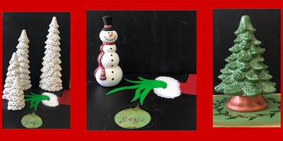 """Adult Open Paint, Christmas in July """"Paint a Christmas Tree Mat"""""""