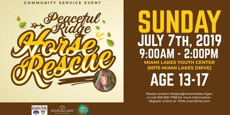 Youth Community Service Project: Peaceful Ridge Horse Rescue tickets
