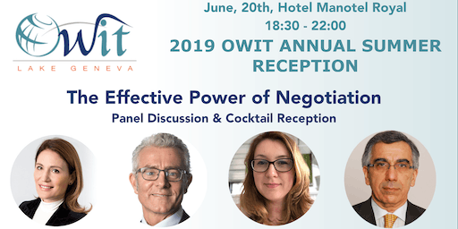 2019 SUMMER RECEPTION - THE POWER OF EFFECTIVE NEGOTIATION