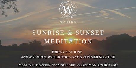Sunrise & Sunset Meditation - Celebrating World Yoga Day & Summer Solstice tickets