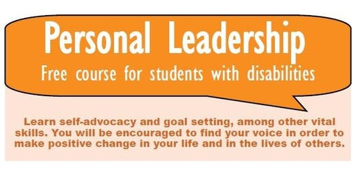 Free Personal Leadership Class led by Access to Independence