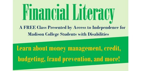 Free Financial Literacy Class led by Access to Independence tickets