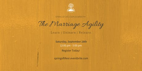 Spring of Life Presents - The Marriage Agility  tickets