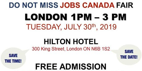 London Job Fair - July 30th, 2019 tickets