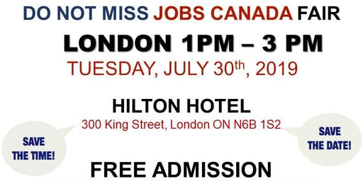 London Job Fair - July 30th, 2019