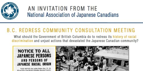 NAJC BC Redress Community On-Line Consultation - For People not Residing in BC (VIA ZOOM INTERNET CONFERENCING) tickets