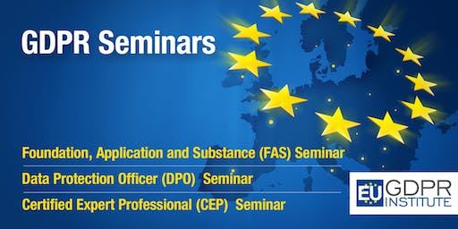 GDPR Seminar (FAS, DPO & CEP) with certification exam - Copenhagen
