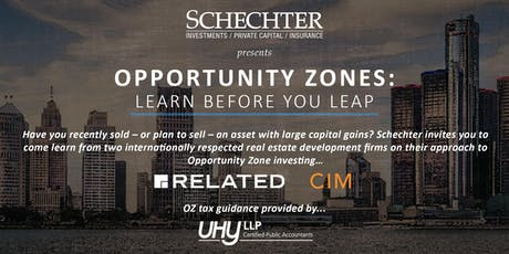 Opportunity Zones | Related Companies, CIM Group, UHY LLP tickets